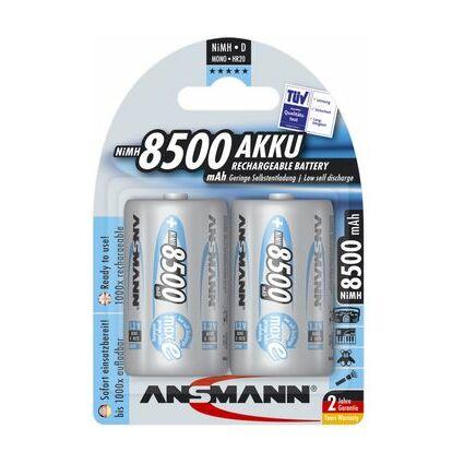 ANSMANN NiMH Akku maxE, Mono (D) 8.500 mAh, 2er Blister