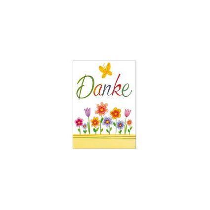 """SUSY CARD Minikarte - Danksagung """"Blumen gezeichnet"""""""