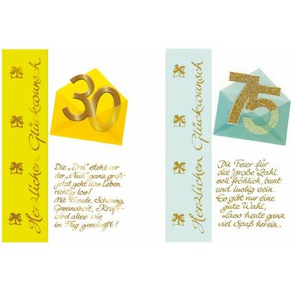 """SUSY CARD Geburtstagskarte - 70. Geburtstag """"Briefumschlag"""""""
