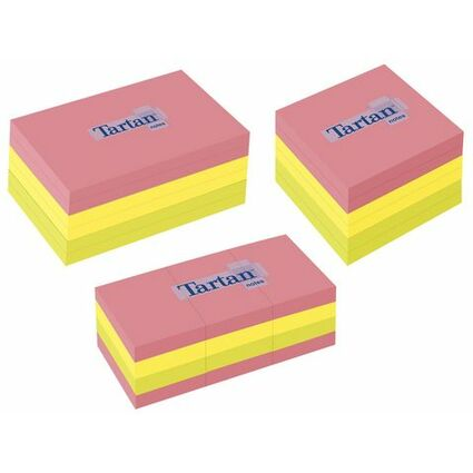 Tartan Notes Haftnotizen, 38 x 51 mm, Neon, 100 Blatt/Block