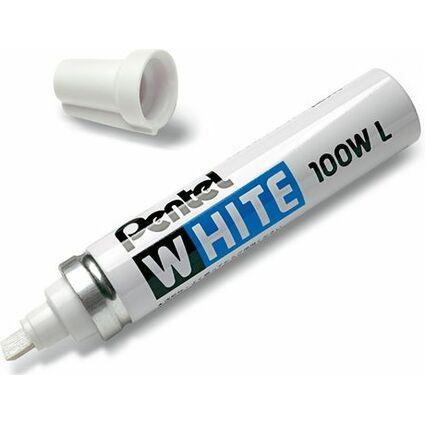 Pentel Weißer Permanent-Marker X100W, Keilspitze, weiß