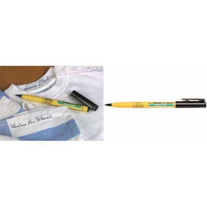 Pentel Markierstift für Textilien GREEN-LABEL NM10, schwarz