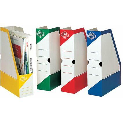 FAST Archiv-Stehsammler, Karton, weiß/grün, mit Grifflöchern
