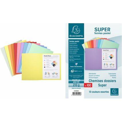 EXACOMPTA Aktendeckel SUPER 250, DIN A4, dunkelgrün