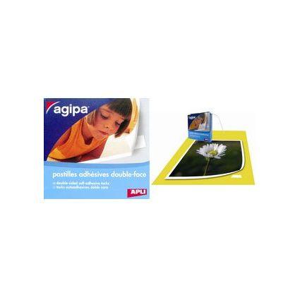 agipa Foto-Klebepunkte, doppelseitig klebend, 12 x 12 mm