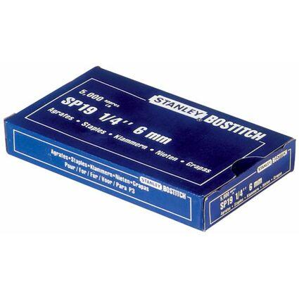 BOSTITCH Heftklammern SP 19 1/4, 6 mm, verzinkt
