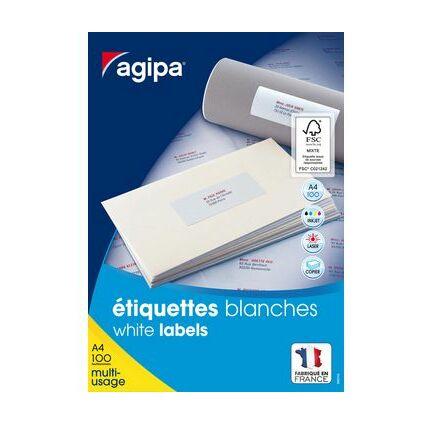 agipa Universal-Etiketten, 210 x 148,5 mm, weiß, rechteckig