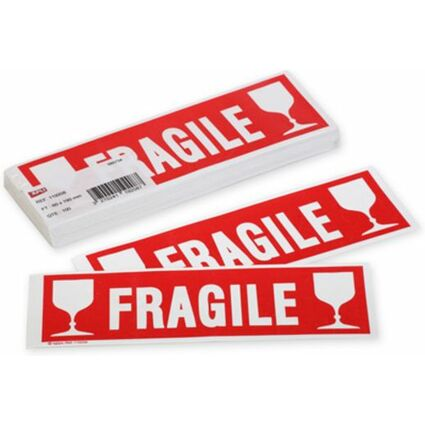 "agipa Hinweisetikett ""FRAGILE"", 60 x 190 mm, nicht ablösbar"
