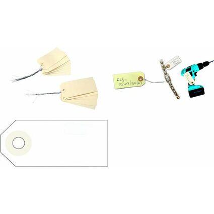 agipa Gepäckanhänger, 80 x 38 mm, neutral, mit Draht