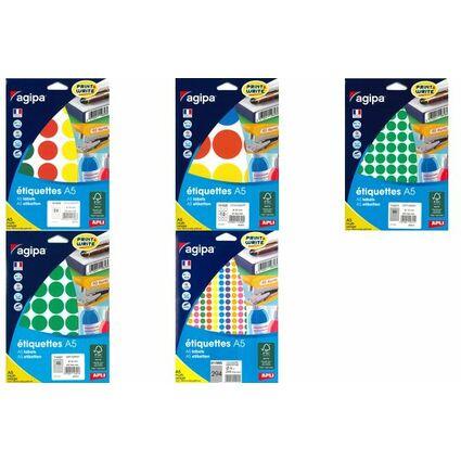 agipa Markierungspunkte, Durchmesser: 24 mm, rund, farbig