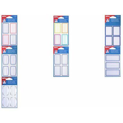 agipa Buchetiketten, weiß/blau, 34 x 75 mm, liniert