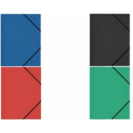 ELBA Eckspannermappe Standard, DIN A4, aus PP, blau