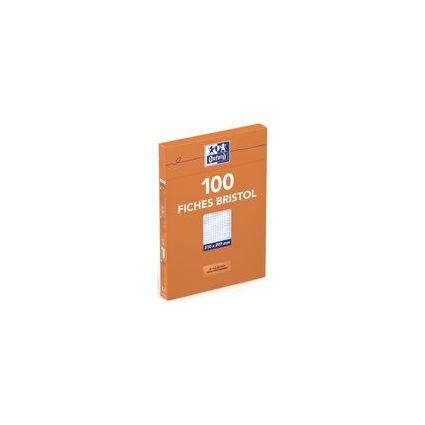 Oxford Karteikarten, DIN A5, blanko, weiß, 210 g/qm