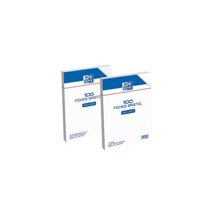 Oxford Karteikarten, DIN A5, kariert, weiß, 210 g/qm