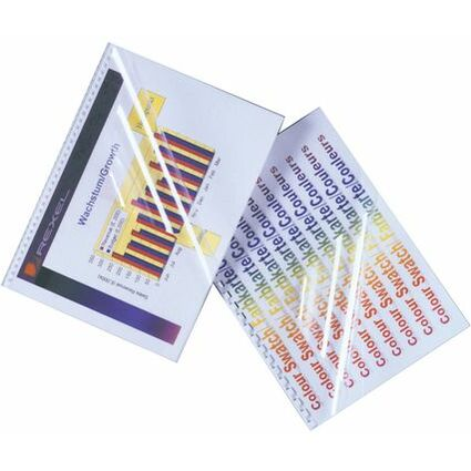 GBC Einbanddeckel HiClear, DIN A4, PVC, 0,20 mm, rot