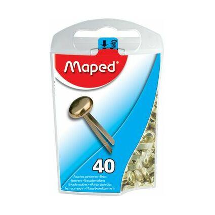Maped Rundkopf-Musterbeutelklammern, aus Messing, 17 mm