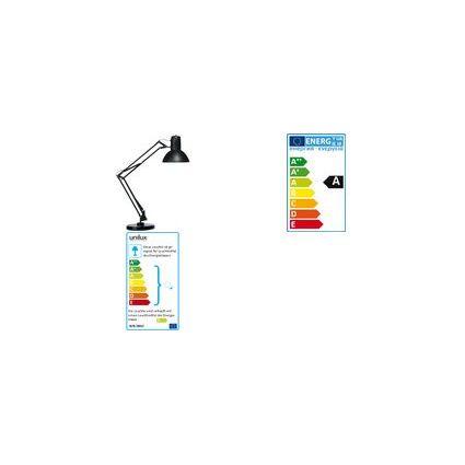 unilux Energiespar-Tischleuchte SUCCESS 66, Farbe: schwarz