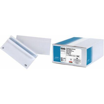 GPV Briefumschläge, DL, 110 x 220 mm, weiß, ohne Fenster