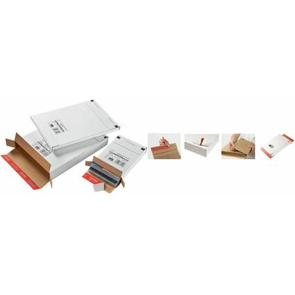 ColomPac Versandkarton Kurierpaket, für Großbrief, weiß