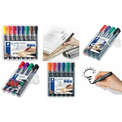 STAEDTLER Lumocolor Permanent-Marker 352, 8er Etui
