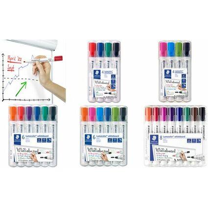STAEDTLER Lumocolor Whiteboard-Marker 351, 8er Etui