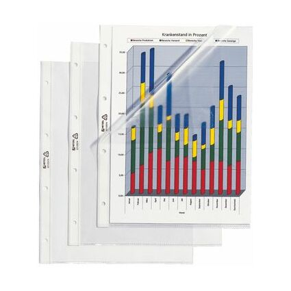 HETZEL Prospekthülle Standard, A4, PVC, genarbt, 0,08 mm