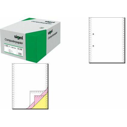 """sigel DIN-Computerpapier endlos, 240 mm x 12"""" (30,48 cm)"""