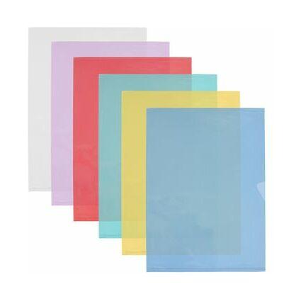 ELBA Sichthüllen DIN A4 Fard'Liss, PVC 0,18 mm, sortiert