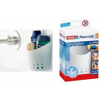 tesa Powerstrips Aufbewahrungs-Korb WATERPROOF, klein