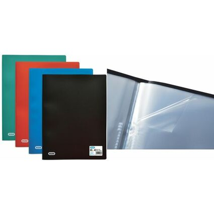 ELBA Sichtbuch DIN A4 Standard, mit 40 Hüllen, schwarz