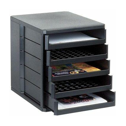 Esselte Schubladenbox Standard, 5 Schübe, schwarz