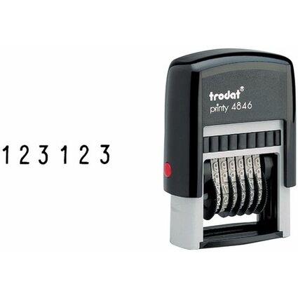 trodat Ziffernstempel Printy 4846, 6-stellig, schwarz