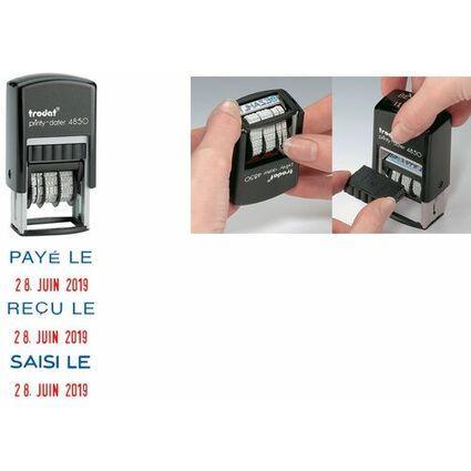 """trodat Datumstempel Printy Dater 4850L """"PAYÉ LE"""" (FR)"""