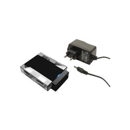 shiverpeaks BASIC-S USB 3.0 Hub, 4 Port, schwarz/transparent