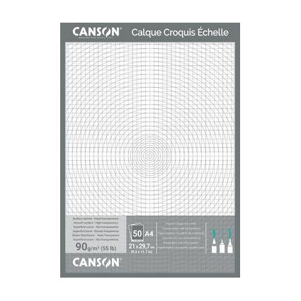 CANSON technisches Zeichenpapier, DIN A4, 90/95 g/qm