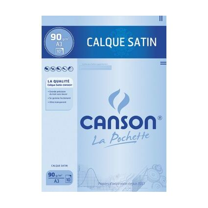 CANSON Transparentpapier, satiniert, DIN A3, 90/95 g/qm