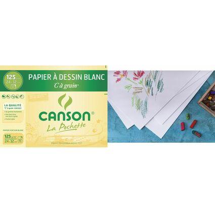 """CANSON Zeichenpapier """"C"""" à Grain, 320 x 240 mm, 224 g/qm"""