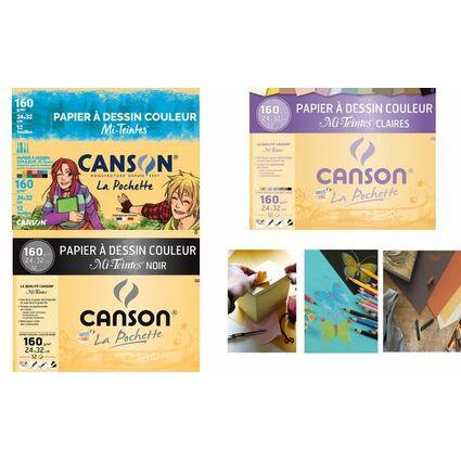 CANSON Zeichenpapier Mi-Teintes, 240 x 320 mm, 160 g/qm