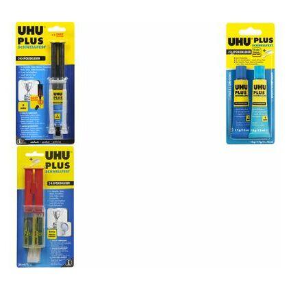 UHU 2-Komponenten-Klebstoff plus schnellfest, 15 g Doppel-
