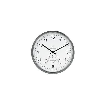 "unilux Wanduhr ""Tempus"", mit Thermometer, Kunststoff"