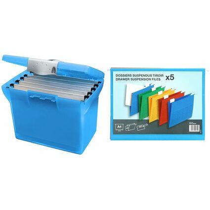 l'oblique Hängeregistratur-Box Class'N Go, transluzent-blau