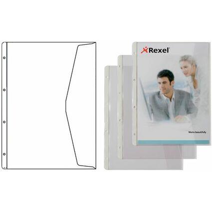 HETZEL Dokumenten-Prospekthülle, A4, PVC, genarbt, 0,13 mm