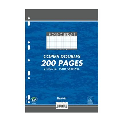CONQUERANT SEPT Kanzleipapier, DIN A4, kariert, 200 Blatt