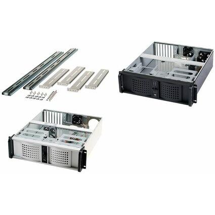 """fantec 19"""" Rechnereinschub, 3 HE, schwarz, 400 Watt Netzteil"""