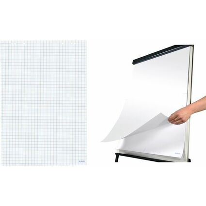 herlitz Flipchart-Block, 20 Blatt, blanko, 680 x 990 mm
