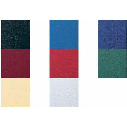 GBC Einbanddeckel LeatherGrain, DIN A4, 250 g/qm, blau