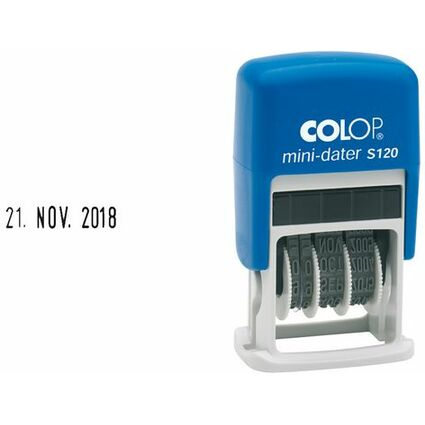 COLOP Datumstempel Mini Dater S120, Monate in Buchstaben, FR