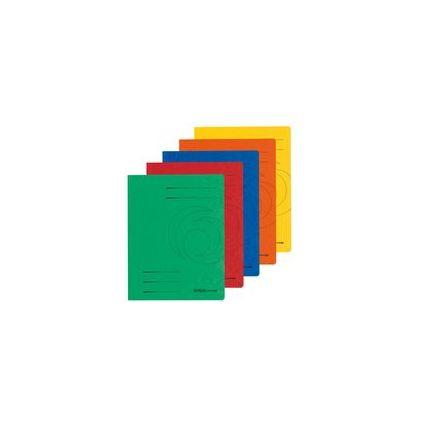 herlitz Sammelmappe easyorga, A4, Colorspan-Karton, blau