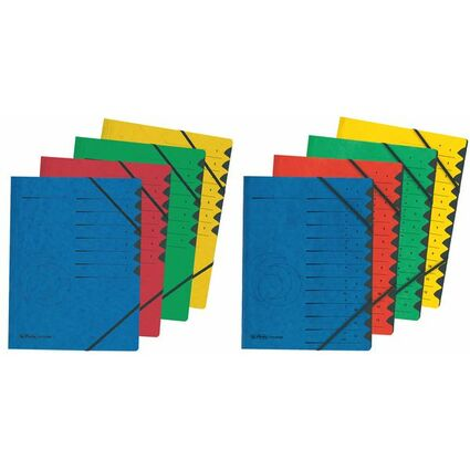herlitz Ordnungsmappe easyorga, A4, Karton, 12 Fächer, rot