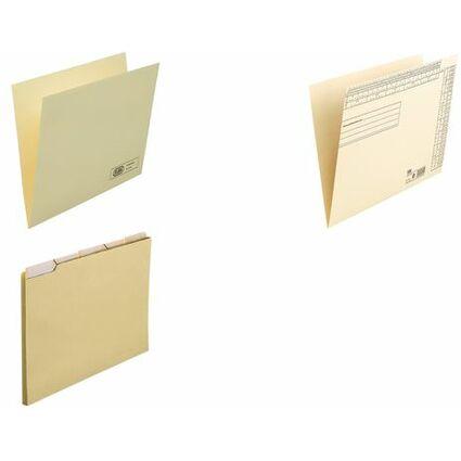 ELBA Einstellmappen-Set, Kraftkarton 180 g/qm, chamois